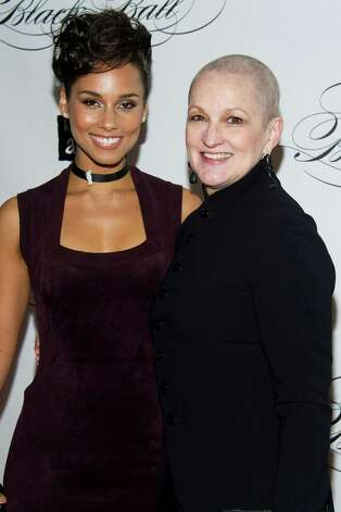 Alicia Keys and her mother Teresa Augello attend the Keep a Child Alive's ninth annual Black Ball on Thursday, Dec. 6, 2012 in New York. (Photo by Charles Sykes/Invision/AP) Photo: Charles Sykes