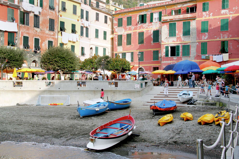 For the casual visitor, Vernazza feels just fine — the main drag is jammed with beachgoers, and the harborfront is springing back to life. Photo: Laura VanDeventer, Ricksteves.com