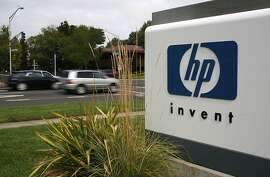 "FILE  - NOVEMBER 20, 2012:  It was reported that shares of Hewlett-Packard plunged over 13 percent after the company disclosed ""serious accounting improprieties"" after acquiring Autonomy Corp. that led to an $8.8 billion asset-impairment charge November 20, 2012 PALO ALTO, CA - SEPTEMBER 16:  The HP logo is displayed on the entrance to the Hewlett-Packard Headquarters September 16, 2008 in Palo Alto, California. Hewlett-Packard announced on Monday that it is planning to cut 24,600 jobs worldwide over the next three years after its purchase of Electronic Data Systems for $13.9 billion.  (Photo by Justin Sullivan/Getty Images)"