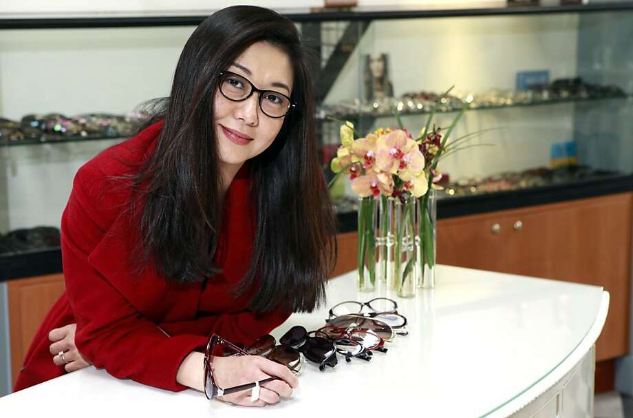 Alexandra Peng Charton says she created TC Charton eyewear because glasses would often slip off her face. Asians typically have flatter bridges, higher cheekbones and wider temples. Photo: Lance Iversen, The Chronicle