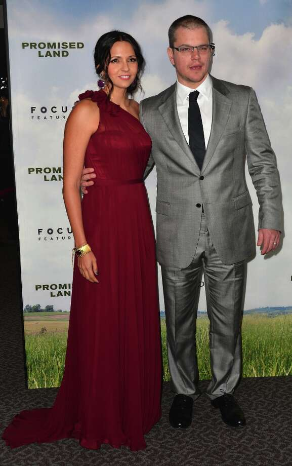 Luciana Baroso and actor Matt Damon arrive to the premiere of Focus Features' Promised Land at the Directors Guild Of America on December 6, 2012 in Los Angeles, California. Photo: Alberto E. Rodriguez, Getty Images / 2012 Getty Images