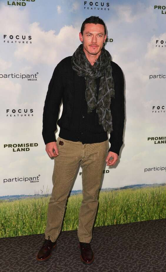 Actor Luke Evans arrives to the premiere of Focus Features' Promised Land at the Directors Guild Of America on December 6, 2012 in Los Angeles, California. Photo: Alberto E. Rodriguez, Getty Images / 2012 Getty Images