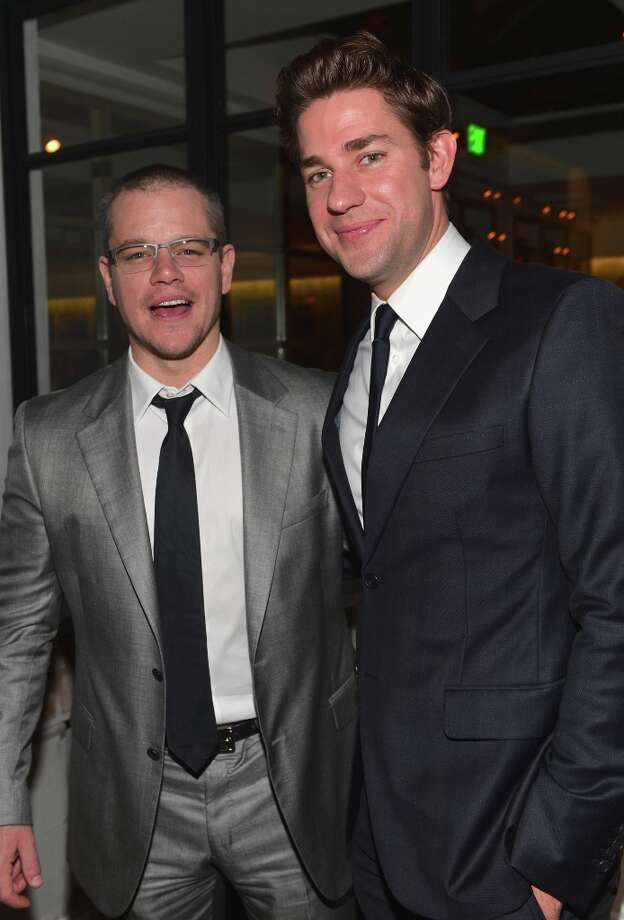 Actors Matt Damon and John Krasinski attend the after party for the premiere of Focus Features' Promised Land at the Directors Guild Of America on December 6, 2012 in Los Angeles, California. Photo: Alberto E. Rodriguez, Getty Images / 2012 Getty Images