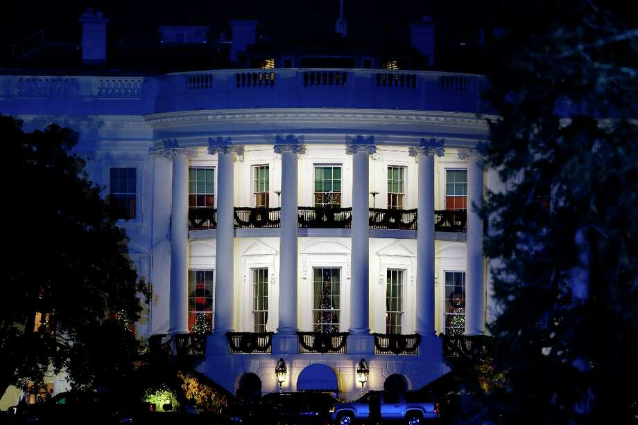 The south front of the White House is lit during the 90th annual National Christmas Tree Lighting ceremony on the Ellipse Thursday, Dec. 6, 2012 in Washington. (Alex Brandon / AP Photo) Photo: Alex Brandon, Associated Press / AP