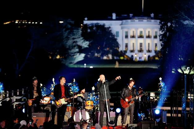 The Fray performs during the 90th annual National Christmas Tree Lighting ceremony on the Ellipse south of the White House, Thursday, Dec. 6, 2012 in Washington.  (Alex Brandon / AP Photo) Photo: Alex Brandon, Associated Press / AP