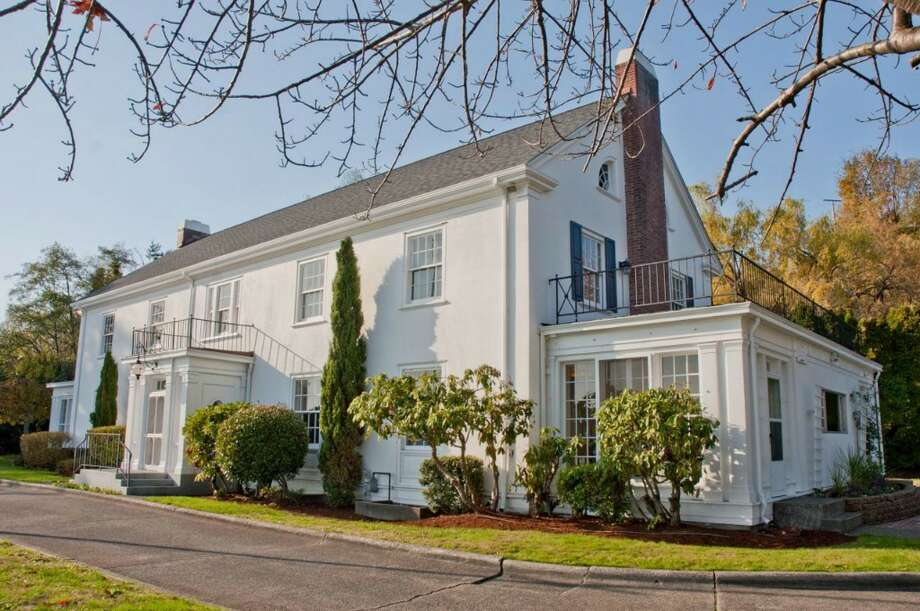 Want to live in one of Seattle's most distinctive landmarks? Check out the Admiral's House, 2001 W. Garfield St., in Magnolia. The 1944 home housed the admiral overseeing Seattle operations for the U.S. Navy, including a base the Navy developed at Smith Cove during World War II. It is a Seattle city landmark and has been nominated for listing on the National Register of Historic Places. The house is 7,316 square feet, with eight bedrooms and 4.25 bathrooms, on 3.89 acres with dramatic views of downtown Seattle and Puget Sound. It's listed for $3.2 million. Photo: Matt Flor/Courtesy Staci Baldwin, Cooper Jacobs Real Estate