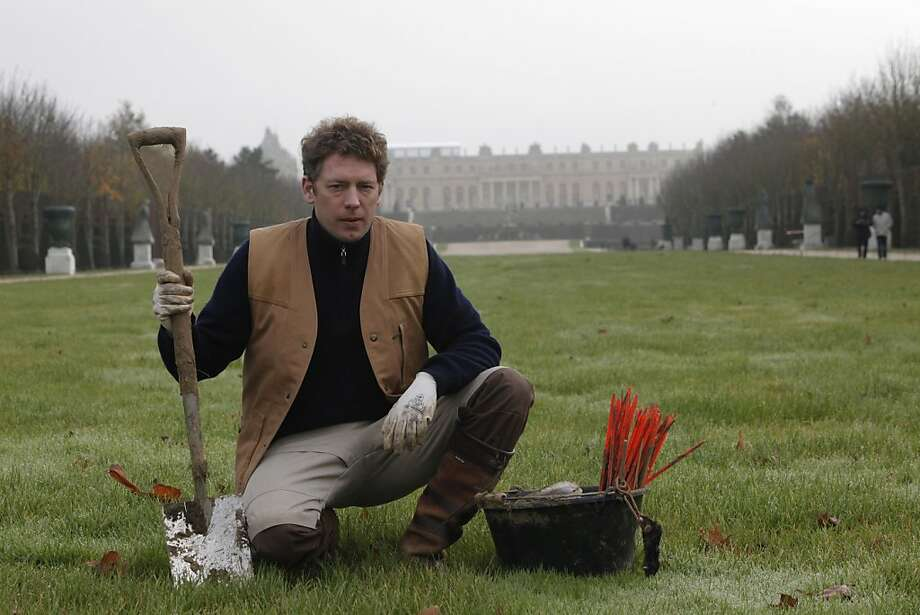 Jerome Dormion, the royal mole catcher, keeps the 2,000-acre gardens at Versailles mole-free. Photo: Thibault Camus, Associated Press