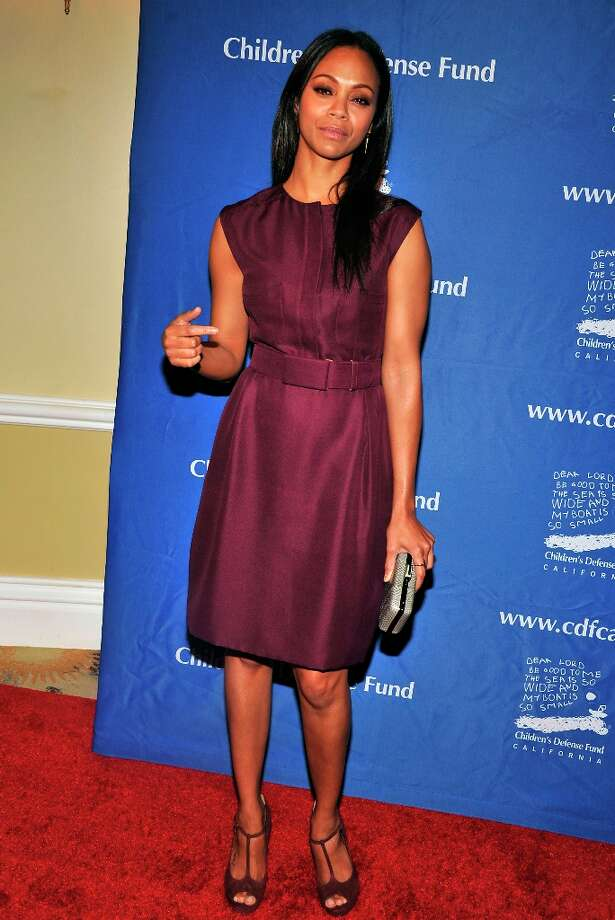 Zoe Soldana arrives for the Children's Defense Fund-California 22nd Annual Beat the Odds Awards at Beverly Hills Hotel on December 6, 2012 in Beverly Hills, California. Photo: Toby Canham, Getty Images / 2012 Getty Images