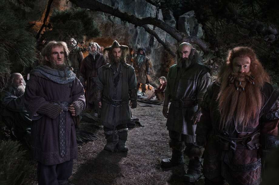 (L-r) IAN McKELLEN as Gandalf, Adam Brown as Ori, JOHN CALLEN as Oin (behind tree branch), Mark Hadlow as Dori, Jed Brophy as Nori, AIDAN TURNER as Kili, WILLIAM KIRCHER as Bifur, MARTIN FREEMAN as Bilbo Baggins, GRAHAM McTAVISH as Dwalin and PETER HAMBLETON as Gloin in the fantasy adventure €œTHE HOBBIT: AN UNEXPECTED JOURNEY,€ a production of New Line Cinema and Metro-Goldwyn-Mayer Pictures (MGM), released by Warner Bros. Pictures and MGM.
