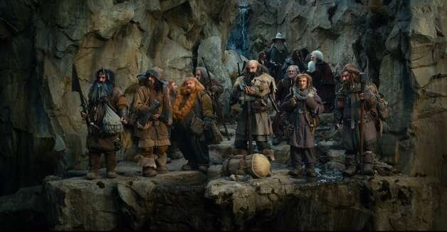 (L-r) WILLIAM KIRCHER as Bifur, JAMES NESBITT as Bofur, JED BROPHY as Nori, STEPHEN HUNTER as Bombur, JOHN CALLEN as Oin, GRAHAM McTAVISH as Dwalin, MARTIN FREEMAN as Bilbo Baggins, IAN McKELLEN as Gandalf, MARK HADLOW as Dori, ADAM BROWN as Ori, KEN STOTT as Balin, PETER HAMBLETON as Gloin in the fantasy adventure THE HOBBIT: AN UNEXPECTED JOURNEY,€ a production of New Line Cinema and Metro-Goldwyn-Mayer Pictures (MGM), released by Warner Bros. Pictures and MGM.