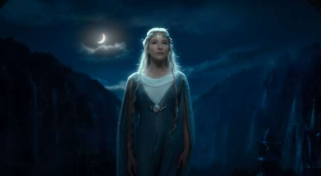 CATE BLANCHETT as the Elf Queen Galadriel in the fantasy adventure THE HOBBIT: AN UNEXPECTED JOURNEY, a production of New Line Cinema and Metro-Goldwyn-Mayer Pictures (MGM), released by Warner Bros. Pictures and MGM.