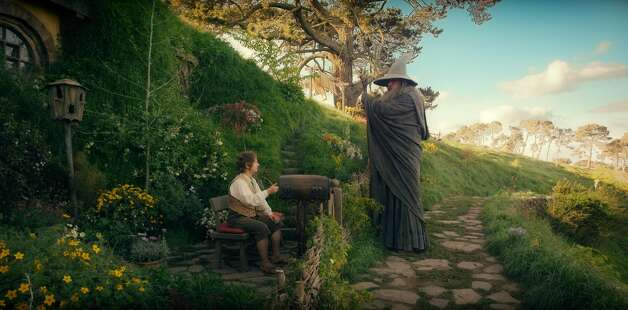 (L-r) MARTIN FREEMAN as Bilbo Baggins and IAN McKELLEN as Gandalf in the fantasy adventure THE HOBBIT: AN UNEXPECTED JOURNEY,€ a production of New Line Cinema and Metro-Goldwyn-Mayer Pictures (MGM), released by Warner Bros. Pictures and MGM.