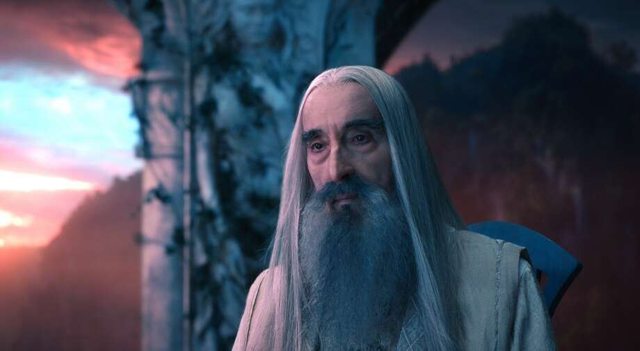 CHRISTOPHER LEE as the Wizard Saruman the White in the fantasy adventure €œTHE HOBBIT: AN UNEXPECTED JOURNEY,€ a production of New Line Cinema and Metro-Goldwyn-Mayer Pictures (MGM), released by Warner Bros. Pictures and MGM.