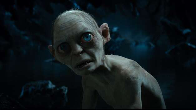 Gollum, performed by ANDY SERKIS in the fantasy adventure THE HOBBIT: AN UNEXPECTED JOURNEY,€ a production of New Line Cinema and Metro-Goldwyn-Mayer Pictures (MGM), released by Warner Bros. Pictures and MGM.