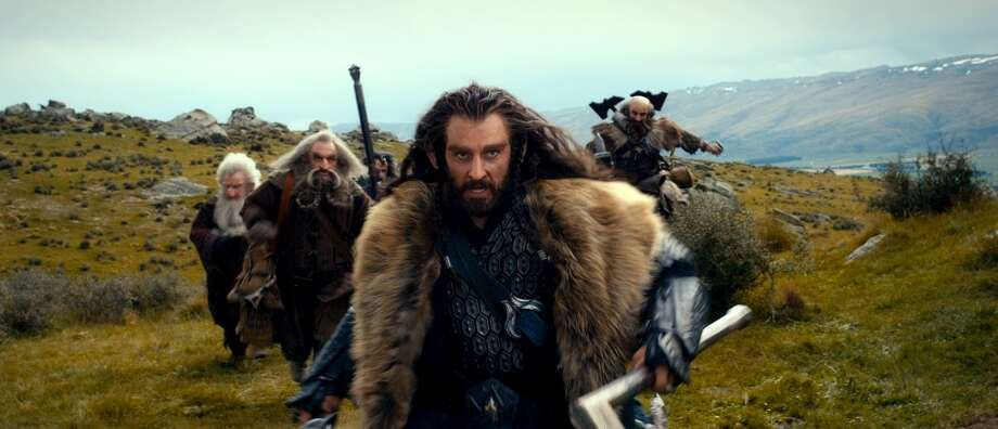 (L-r) Dwarves KEN STOTT as Balin, JOHN CALLEN as Oin, WILLIAM KIRCHER as Bifur, RICHARD ARMITAGE as Thorin Oakenshield (center) and GRAHAM McTAVISH as Dwalin in the fantasy adventure THE HOBBIT: AN UNEXPECTED JOURNEY,€ a production of New Line Cinema and Metro-Goldwyn-Mayer Pictures (MGM), released by Warner Bros. Pictures and MGM.