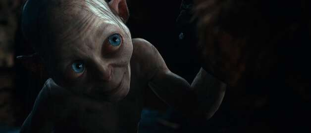 Gollum, performed by ANDY SERKIS in the fantasy adventure THE HOBBIT: AN UNEXPECTED JOURNEY, a production of New Line Cinema and Metro-Goldwyn-Mayer Pictures (MGM), released by Warner Bros. Pictures and MGM.