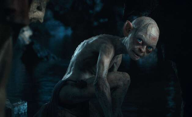 Gollum, performed by ANDY SERKIS in the fantasy adventure €œTHE HOBBIT: AN UNEXPECTED JOURNEY, a production of New Line Cinema and Metro-Goldwyn-Mayer Pictures (MGM), released by Warner Bros. Pictures and MGM.