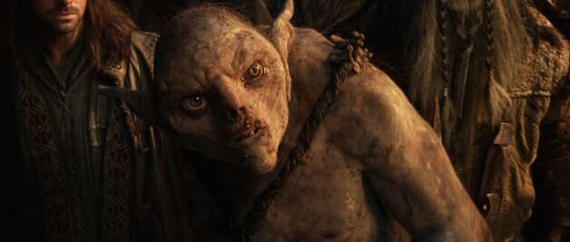 A goblin in a scene from the fantasy adventure €œTHE HOBBIT: AN UNEXPECTED JOURNEY,€ a production of New Line Cinema and Metro-Goldwyn-Mayer Pictures (MGM), released by Warner Bros. Pictures and MGM.