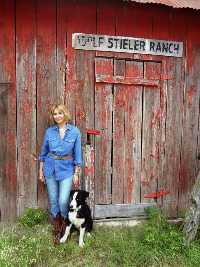 Author Becky Crouch Patterson and Zorro keep watch over the Adolf Stieler Ranch, the subject of her latest book. Photo: Steve Bennett