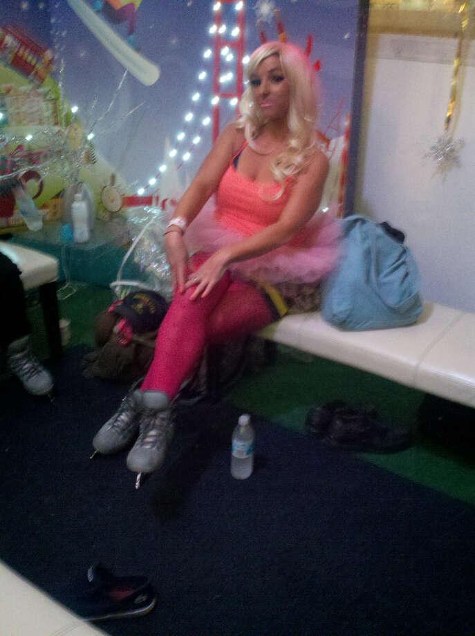 Union Square, Dec. 6, 2012; Blondes have more fun (Leah Garchik)