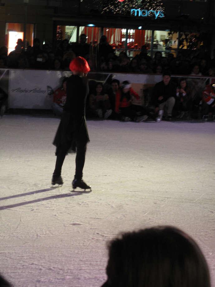 Union Square, Dec. 6, 2012; Let the show begin (Leah Garchik)