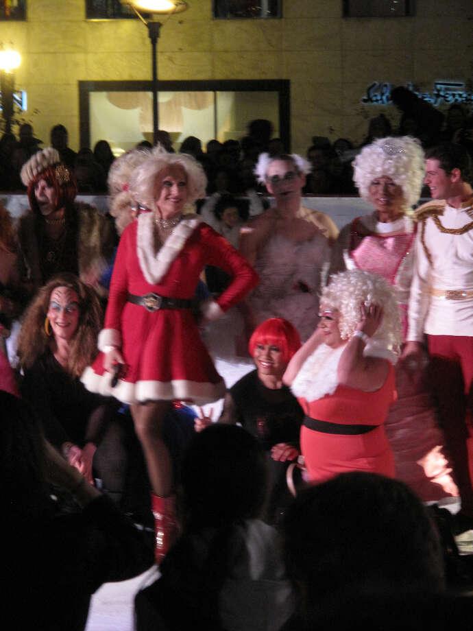 Union Square, Dec. 6, 2012; Santa's helpers (Leah Garchik)