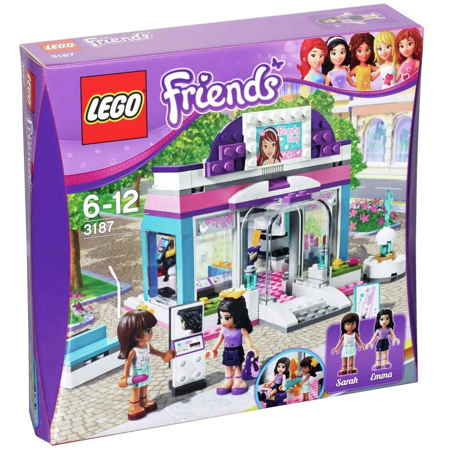 2) LEGO Friends Butterfly Beauty Shop, $29, ages 6-12. How do you turn one of the all-time great toys into a TOADY contender? Give it a makeover! Introducing LEGO Friends, just for girls and so jam-packed with condescending stereotypes it would even make Barbie blush. Bye-bye square, androgynous figures; hello, curves 'n  eyelashes! And at the LEGO Friends Butterfly Beauty Shop, your little princess won't need to worry her pretty little head about icky boy things like building.