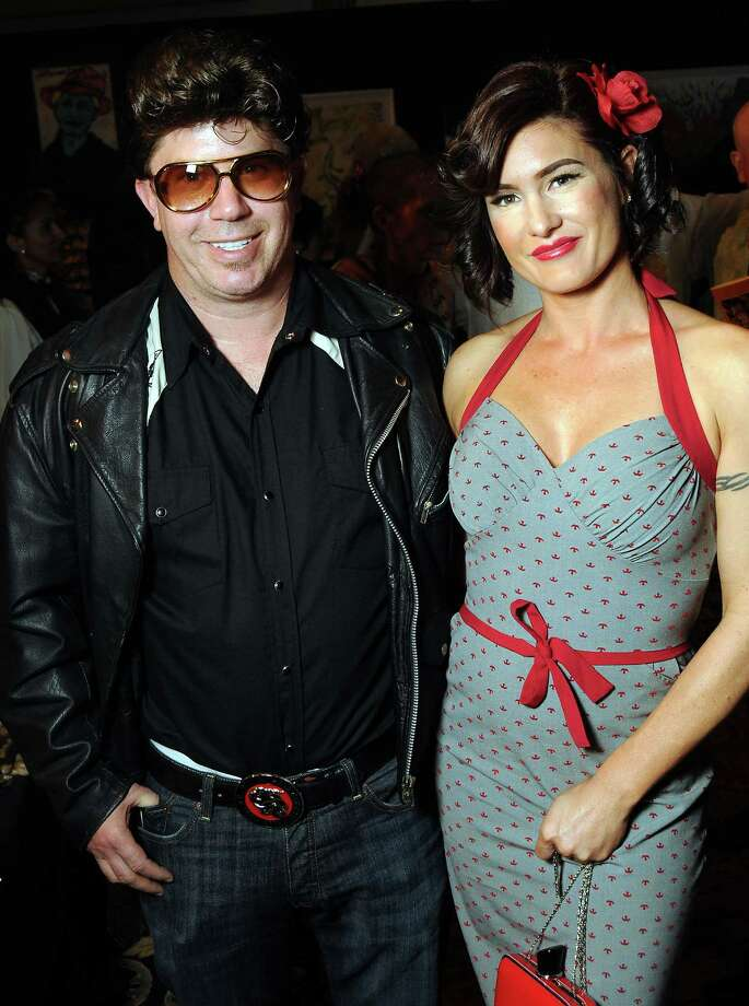 Will Robinson and Genevive Bilodeau at the Orange Show's Rockabilly Blast gala, held at the Heritage Center at the Crown Plaza Reliant Hotel on Nov. 3. Photo: Dave Rossman, For The Houston Chronicle / © 2012 Dave Rossman
