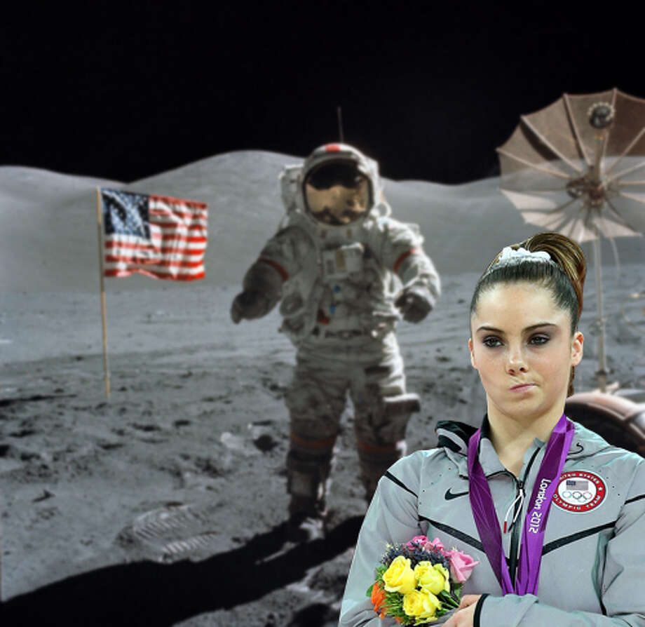 "Memes had a big year in 2012, thanks to the presidential election and summer Olympics. Here's ""McKayla is not impressed,"" which started with a photo of U.S. Olympic gymnast McKayla Maroney scowling in disappointment at the games. Via McKayla is not impressed tumblr."