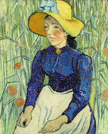 """Portrait of a Young Peasant Girl,"" 1890, by Vincent van Gogh. The work, owned by Steve Cohen, was put on display in 2009. Source: Sotheby's via Bloomberg News Photo: VIA BLOOMBERG NEWS / SOTHEBYS"