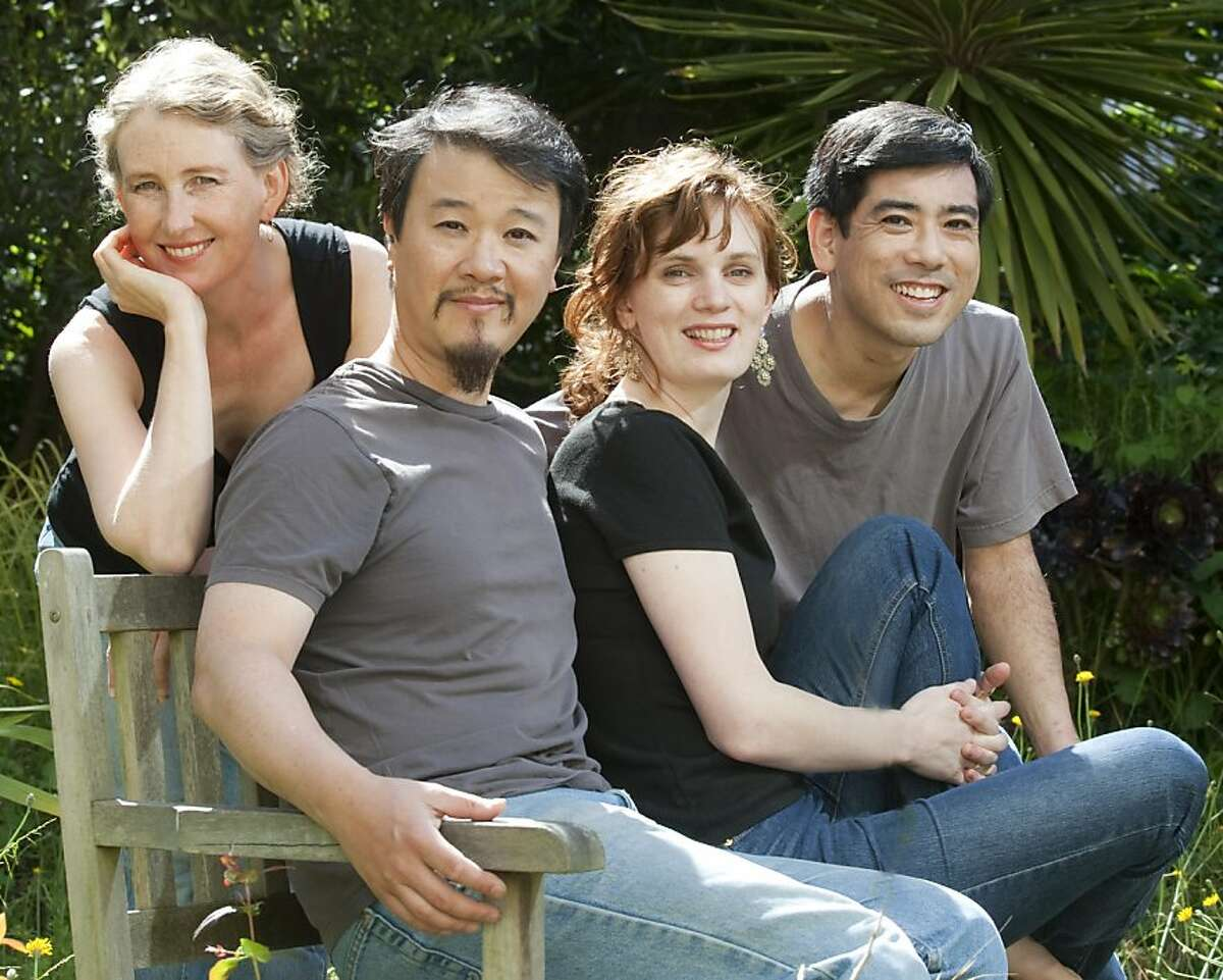 The Del Sol Quartet: from left, violinist Kate Stenberg, violist Charlton Lee, cellist Kathryn Bates Williams, violinist Rick Shinozaki