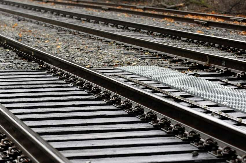 Detail of train tracks on the Amtrak Hudson Line in Rensselaer, NY Friday Dec. 7, 2012. (Michael P. Farrell/Times Union)