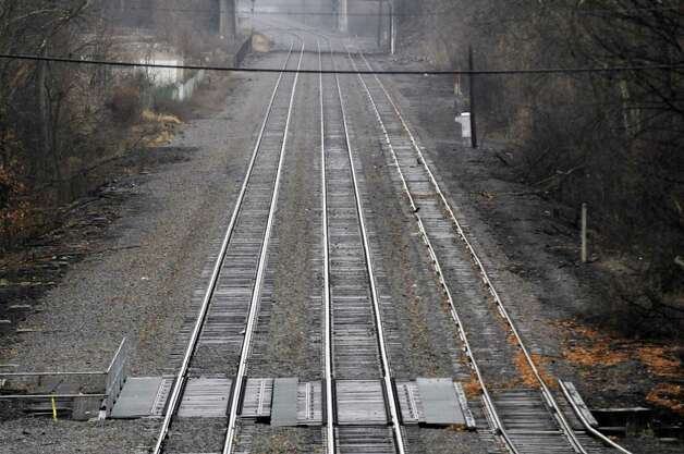 Train tracks on the Amtrak Hudson Line Friday, Dec. 7, 2012, in Rensselaer, N.Y. (Michael P. Farrell/Times Union) Photo: Michael P. Farrell