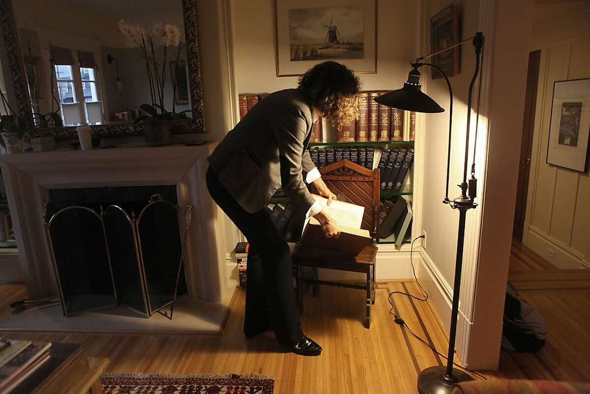 Sarah Ogilvie at home in San Francisco, Calif., going through her Oxford dictionary on Wednesday, November 28, 2012.
