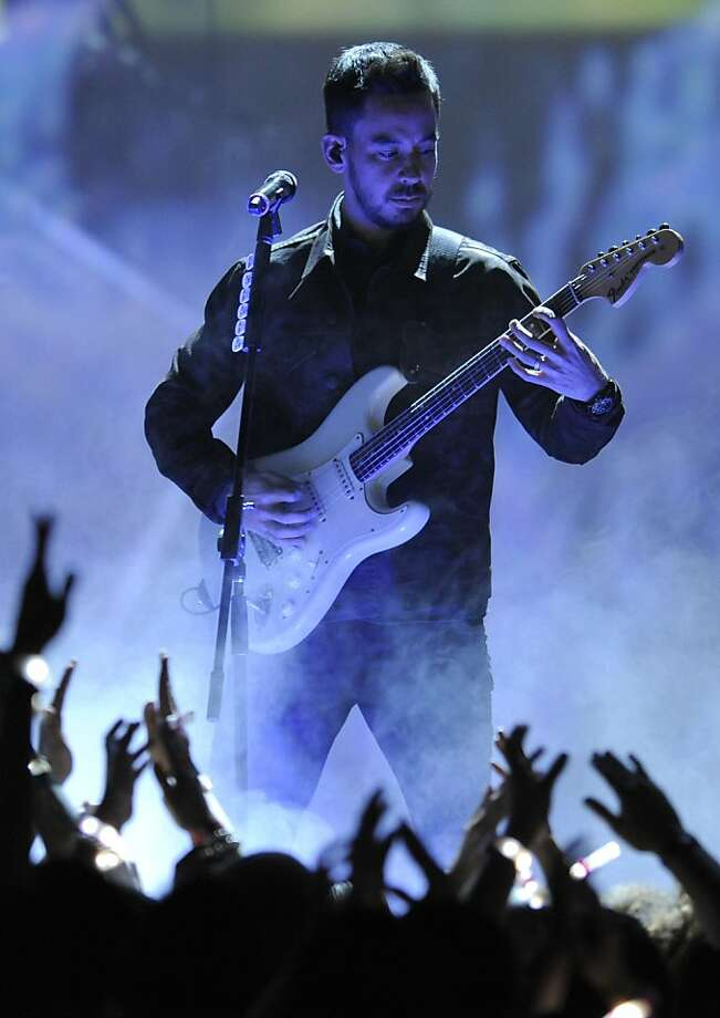 Mike Shinoda, of musical group Linkin Park, performs on stage at Spike's 10th Annual Video Game Awards at Sony Studios on Friday, Dec. 7, 2012, in Culver City, Calif. Photo: Chris Pizzello, Associated Press