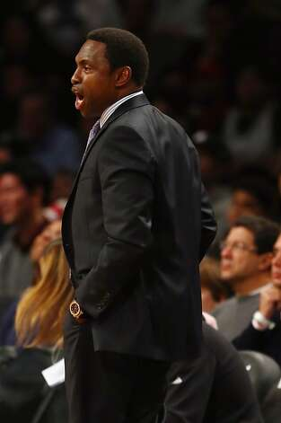 NEW YORK, NY - DECEMBER 07:  Head coach Avery Johnson of the Brooklyn Nets directs his team in the first half against the Golden State Warriors on December 7, 2012 at the Barclays Center in the Brooklyn borough of New York City.  NOTE TO USER: User expressly acknowledges and agrees that, by downloading and/or using this photograph, user is consenting to the terms and conditions of the Getty Images License Agreement.  (Photo by Elsa/Getty Images) Photo: Elsa, Getty Images