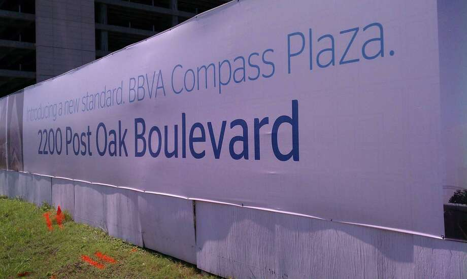 Completion of BBVA Compass Plaza at 2200 Post Oak Boulevard is planned in Spring 2013. Stream Realty Partners and The Redstone Cos. are developing the 318,189-square-foot building. Photo: Katherine Feser