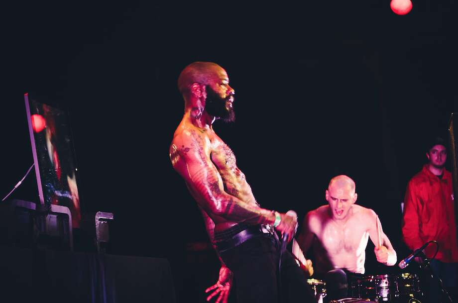 Death Grips perform at Slim's in San Francisco on December 3, 2012.