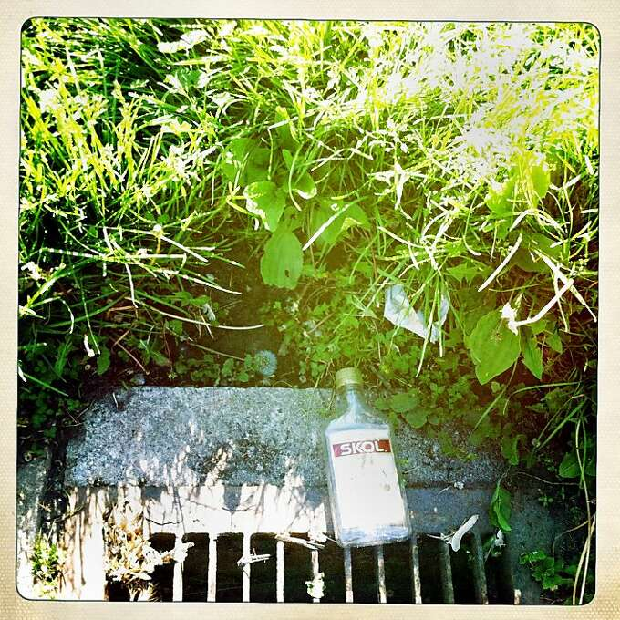 This is from another walk near our house with Quinn - remnant of another passerby. Photo: Jamie Cotten