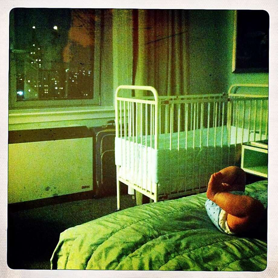 I lived on the East Side in New York City during my first year of college, and it was a wonderful experience, but a struggle. As many people who've lived in NYC know, it's a hard city, especially when you're young. This is at the hotel where we stayed during our first trip to NYC with Quinn. Photo: Jamie Cotten