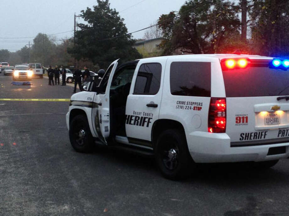 One person was killed and another three were injured, one critically, in a shooting on the 4400 block of Courtess in South Bexar County. Photo: Nolan Hicks / Express-News