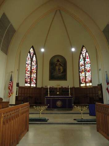 Interior of the Trinity Episcopal Church sanctuary, looking in the direction of the altar.  Fairfield CT 12/5/12 Photo: Meg Barone / Fairfield Citizen freelance