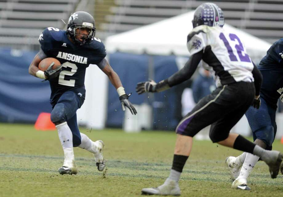 Scenes from the second half of the Class S state football championship game between Ansonia and North Branford High Schools Saturday, Dec. 8, 2012 at Rentschler Field in East Hartford, Conn. Ansonia defeated North Brandford, 59 to 26. Photo: Autumn Driscoll / Connecticut Post