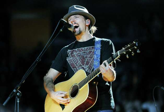 Musician Jason Mraz performs at Z100's Jingle Ball 2012 presented by Aeropostale at Madison Square Garden on Friday Dec. 7, 2012 in New York. (Photo by Evan Agostini/Invision/AP) Photo: Evan Agostini, Associated Press / Associated Press