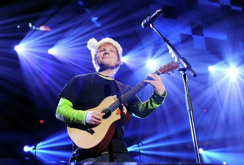 Singer Ed Sheeran performs at Z100's Jingle Ball 2012 presented by Aeropostale at Madison Square Gar