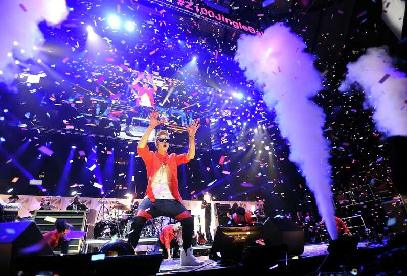 Singer Justin Bieber performs at Z100's Jingle Ball 2012 presented by Aeropostale at Madison Square