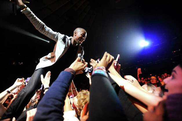 B.o.B performs at Z100's Jingle Ball 2012 presented by Aeropostale at Madison Square Garden on Friday Dec. 7, 2012 in New York. (Photo by Evan Agostini/Invision/AP) Photo: Evan Agostini, Associated Press / Associated Press