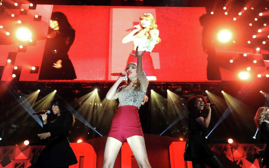 Singer Taylor Swift performs at Z100's Jingle Ball 2012 presented by Aeropostale at Madison Square Garden on Friday Dec. 7, 2012 in New York. (Photo by Evan Agostini/Invision/AP) Photo: Evan Agostini, Associated Press / Associated Press