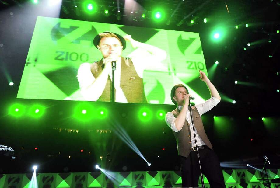 Singer Olly Murs performs at Z100's Jingle Ball 2012 presented by Aeropostale at Madison Square Garden on Friday Dec. 7, 2012 in New York. (Photo by Evan Agostini/Invision/AP) Photo: Evan Agostini, Associated Press / Associated Press