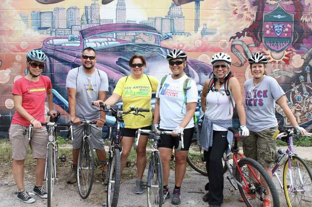 San Anto Cultural Arts Mural Bike Tour on Saturday, Dec. 8, 2012. Photo: Libby Castillo, MySA.com